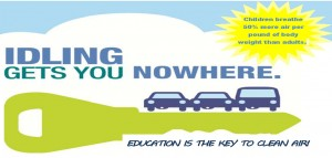 idling gets you nowhere flyer